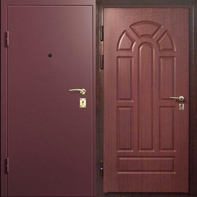 дверь стальная двухстворчатая окрашенн